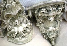 Gray sconces.....just found some of these at an estate sale that look very similar!