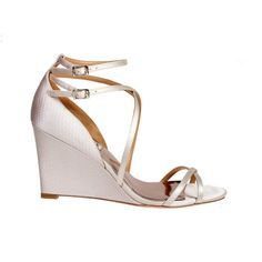 http://www.bellissimabridalshoes.com/bridal-shoes/Badgley-Mischka-Melaney-Bridal-Shoes A beautiful wedge sandal with double ankle straps.