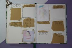 Bullet journal #4 - Mei, weekly spread Weekly Spread, Bullet Journal, Notes, Dreams, Blog, Handmade, Report Cards, Hand Made, Notebook