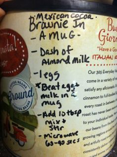 recipe for brownie in a mug in case you missed it ;)