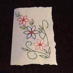 Bordado sobre papel