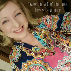 Thanks for the <3, Sara from MN! You are gorgeous in the Navy Medallion Blouse!