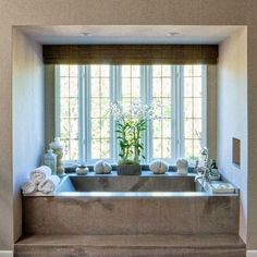 stone tub in alcove | sandy gallin