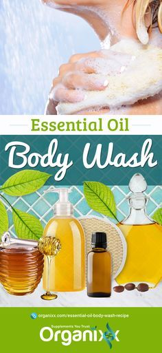 HOMEMADE BODY WASH: We all use personal body care products but unfortunately, many of the well-known brands have a hidden secret… they're full of toxic, health-harming chemicals! Here is a great recipe for a DIY body wash recipe using essential oils. Once you use this, you will never go back to products off the shelf again. | essential oil recipes | how to use essential oils | recipes with essential oils | #organixx #essentialoilrecipe #essentialoils