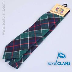 wool tie in Leslie Hunting Modern tartan from ScotClans