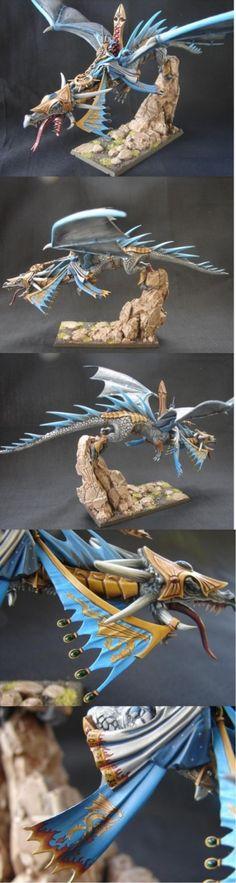 High Elf Dragon Mage on Dragon