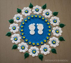 50 Mesha Sankranti Rangoli Design (ideas) that you can make yourself or get it made during any occasion on the living room or courtyard floors. Small Rangoli Design, Colorful Rangoli Designs, Rangoli Designs Images, Rangoli Ideas, Rangoli Designs Diwali, Diwali Rangoli, Beautiful Rangoli Designs, Mehandi Designs, Mehndi Designs For Beginners