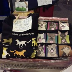If you're in the area come support the dogs of Singapore! Pick up a dry fit Dogs of Singapore t-shirt for your favourite human - 100% of sale proceeds go to Gentle Paws dog shelter!  Available in 2 designs and black and white base colours. Samples available at Miyabi's stall at Paw Fest now till tomorrow evening at I12 Katong!  #pawfest #petsmagazinesg #ilovedogs #dogs #sgdogs #adoptdontshop #gentlepaws #weekendwarrior #petlovers #doglovers #animallovers #singaporespecials #magasinmiyabi