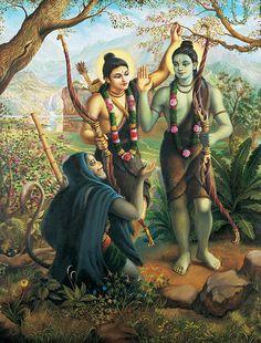 Hanuman Meeting Ram And Laxman