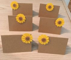 Sunflower Place Cards Name Cards Gift Tags Party Seating Assignments Placecards Fall Wedding Autumn Party Favor Tags Gift Tags by ErinShop11 on Etsy https://www.etsy.com/listing/474716381/sunflower-place-cards-name-cards-gift