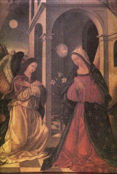 Opera di Antonio Giuffrè (sec. XV) rappresenta l'angelo dell'Annunciazione e la Vergine, presso il Duomo di Milazzo.