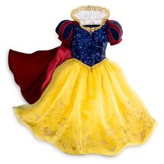 Snow White Deluxe Costume for Kids-must be a million dollars! Robes Disney, Disney Princess Costumes, Disney Princess Dresses, Disney Dresses, Disney Costumes, Disney Princess Party, Snow White Halloween Costume, Toddler Halloween Costumes, Costume Halloween