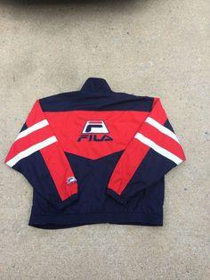 OG 80/90s Vintage Fila Track Windbreaker Jacket Men's XXL #Fila #Windbreaker