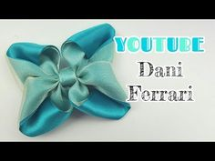LAÇO DE FITA DE CETIM COM ORGANZA CRISTAL - TUTORIAL PASSO A PASSO - RIBBON BOW HAIR - Dani Ferrari. - YouTube