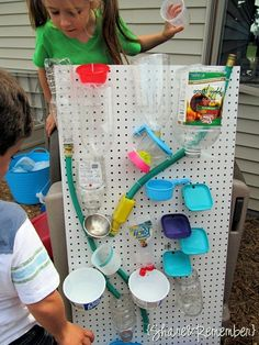 DIY Outdoor Summer Games - Kids water wall Tutorial by Things to Share and Remember
