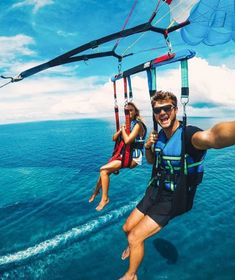 Experience Captiva Island in Southwest Florida from the sugar sand beach or from the sky at 'Tween Waters Island Resort and Spa! Adventure Couple, Adventure Awaits, Adventure Travel, Bora Bora, Couple Travel, Family Travel, Parasailing, Summer Goals, Summer Fun