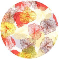 Japanese flower fabric print