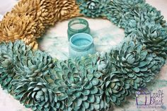 Make a Floral Wreath from Pistachio Shells