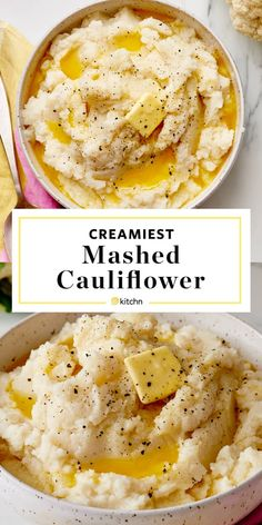 This mashed cauliflower is a great, healthy replacement for mashed potatoes on your Thanksgiving or holiday table. They are creamy, comforting and chock full of butter and salt. cauliflower recipes How To Make the Creamiest Mashed Cauliflower Low Carb Recipes, Diet Recipes, Cooking Recipes, Healthy Recipes, Recipes Dinner, Jello Recipes, Gluten Free Low Carb Pizza Crust Recipe, Healthy Food, Side Dishes