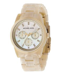 Michael Kors Watch, Women's Chronograph Ritz Resin Horn Bracelet 36mm MK5039
