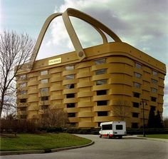 Giant Picnic Basket - Creative building in Newark, Ohio, USA looks like a giant basket.