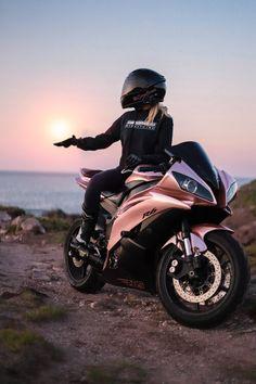Share Your Story Motorbike Girl, Motorcycle Bike, Yamaha Moto Bike, Grom Bike, Custom Motorcycle Helmets, Motorcycle Girls, Motorcycle Design, Biker Chick, Biker Girl
