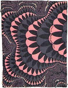 Shoreline - fractal art quilt