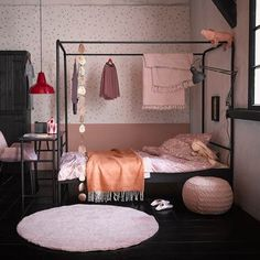 Single Black Metal Four Poster Bed by Woood Black-Four-Poster-Single-Bed-Frame. Single Black Metal Four Poster Bed by Woood Black-Four-Poster-Single-Bed-Frame. Dream Bedroom, Home Decor Bedroom, Girls Bedroom, Kids Single Beds, Big Bedrooms, Four Poster Bed, Poster Beds, Metal Beds, Bunker