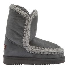 Mou Eskimo Short Boots Women New Charcoal Metallic - MOU #mou #eskimo #boots #women #fashion