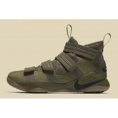 bf4f07ece35060 Nike LeBron Soldier 11 SFG & Men's Olive Medium Olive/Black-Black 897646-200