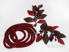 Tutorial- Russian Leaf- listek z koralików Beading Projects, Beading Tutorials, Bead Making Tutorials, Bead Crochet Rope, Peyote Stitch, Beaded Flowers, Bead Weaving, Seed Beads, Leaves