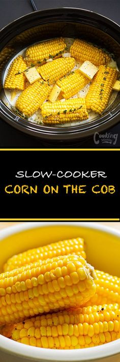 This slow-cooker corn on the cob recipe is so easy.Braising the corn in coconut … This slow-cooker corn on the cob recipe is so easy.Braising the corn in coconut milk ensures that the corn is crisp, juicy and retains its corn flavor. Cooks Slow Cooker, Crock Pot Slow Cooker, Slow Cooker Recipes, Cooking Recipes, Dishes Recipes, Easy Recipes, Crockpot Dishes, Crock Pot Cooking, Corn In Crockpot