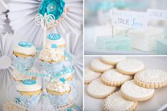 Dulces elegantes, ideales para una mesa de dulces en una boda / Elegant desserts, ideal for weddings