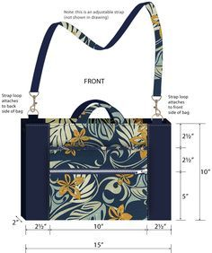 Compact Messenger Bag with Inset Zipper   Sew4Home