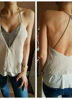 Zara # Top# Shirt# rückenfrei# tanktop# wildleder