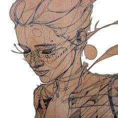 """Silence""   #jasonthielke #davidbsmithgallery   #lineart #art #contemporaryart #newart #newcontemporaryart #denverart #coloradoart #fineart #figureart #figurativeart #drawing #painting #portrait #portraiture #beautifulart #paintings #instaart #artoftheday #linework (at Private Collector)"