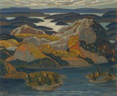 """sbsebek: """"Grace Lake,"""" Frank Carmichael, 1931."""