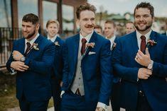 Brittany and Brent Minneapolis Wedding Photography – Empiria Studios Minneapol… - bajip. Navy And Burgundy Suit, Navy Suit Blue Shirt, Navy Suit Grey Waistcoat, Navy Blue Tux, Dark Navy Suit, Blue Suit Men, Navy Suits, Grey Vest, Suit Vest