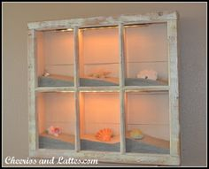 Add a shadow box to each frame as you save the sand and shells from 6 different beach adventures!