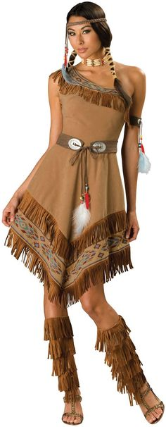 Pocahontas native  american red indian costume