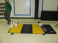 Carly's PE Games: P.E. Tumbling, Body Bowling, Scooter Game