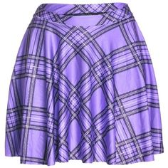 Plaid Skirt ❤ liked on Polyvore featuring skirts, mini skirts, purple skater skirt, plaid pleated skirt, mini skater skirt, short skirt and short plaid skirt