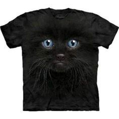 Black Kitten Face - Cats T Shirt by the Mountain-Child Sizes To Adult 5XL | eBay
