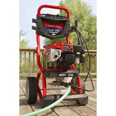 Power up dad's garage with a Troy-Bilt pressure washer.