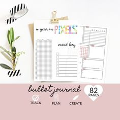 Printable Bullet Journal, Personal Planner and Journal, Budget, Expenses, Mood, Sleep, Mood | Weekly Monthly Daily  by DesignerJaim on Etsy Goals Planner, Blog Planner, Happy Planner, Year In Pixels, Savings Jar, Doodle Pages, Youtube Channel Art, Youtube Banners, Goal Quotes