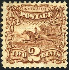 Post Horse & Rider 1869 Issue-2c - Pony Express - Wikipedia, the free encyclopedia