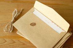 Buste carta craft 16x11 cm, ideali per partecipazioni, inviti matrimonio paper envelopes shabby rustic chic wedding (set 50 pcs) di FlowersFavours su Etsy