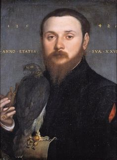 """Portrait of a Man with a Falcon"" by Hans Holbein"
