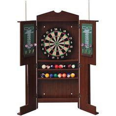 EastPoint Sports Belvidere Dartboard Cabinet And Cue Rack   Walmart.com