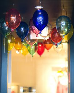 Balloon light fixtures. This would be cool for a birthday party.